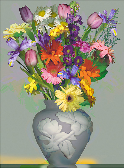 Flowers In A Vase Coloring Pages. Vase coloring page Flowers